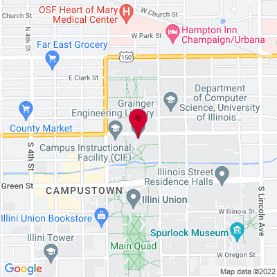 Map of 470 Grainger Engineering Library Information Center,1301 W. Springfield Ave. Urbana IL