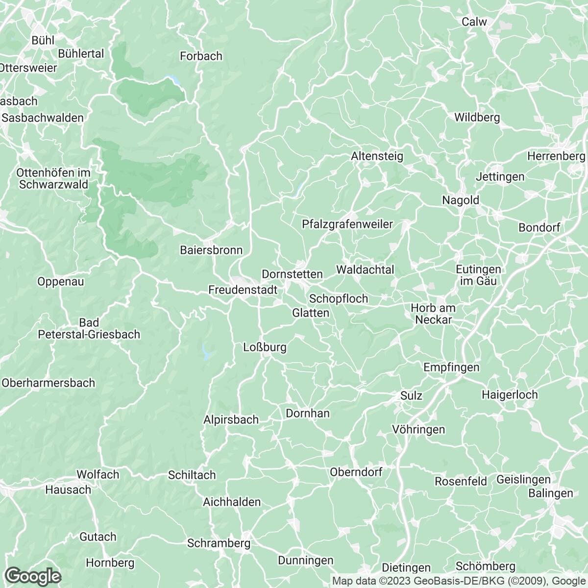 Verkaufsgebiet der Zeitungen Schwarzwälder Bote mit Partnerverlagen