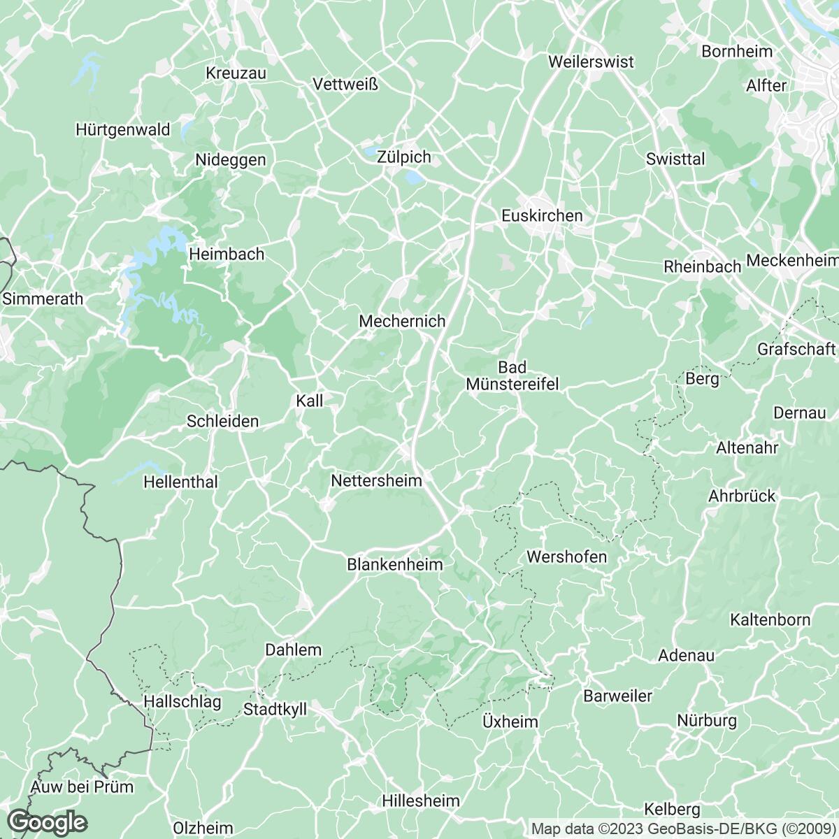 Verkaufsgebiet der Zeitungen Zeitungsgruppe Köln