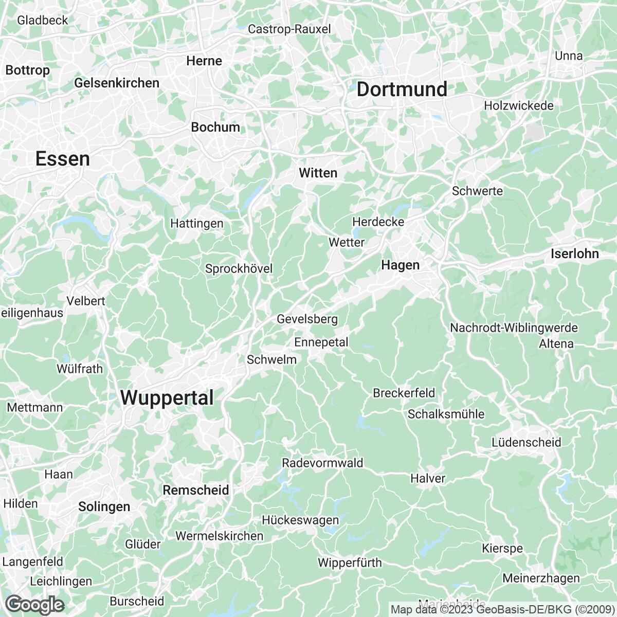 Verkaufsgebiet der Zeitungen BILD (Regional)