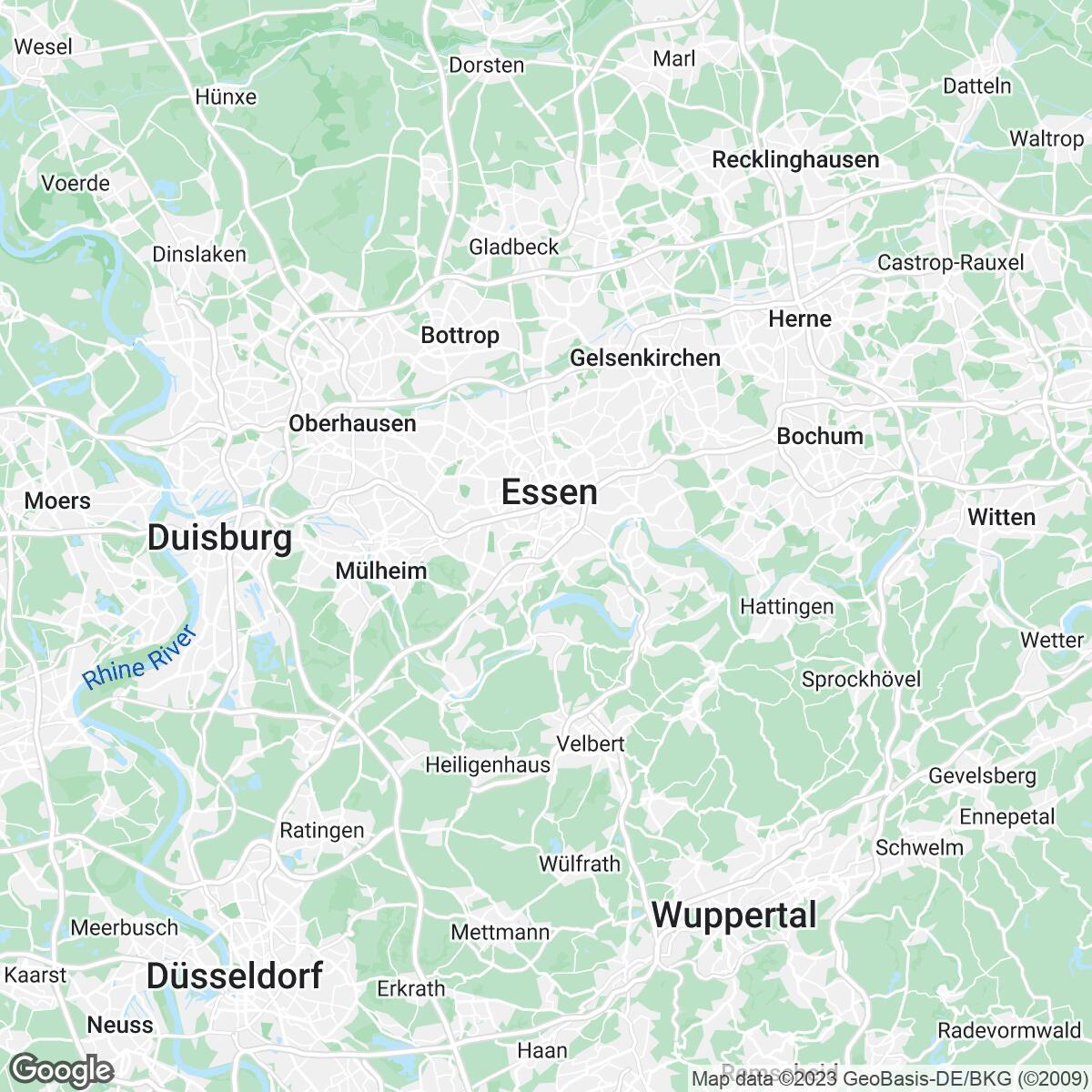 Verkaufsgebiet der Zeitungen Funke Medien NRW