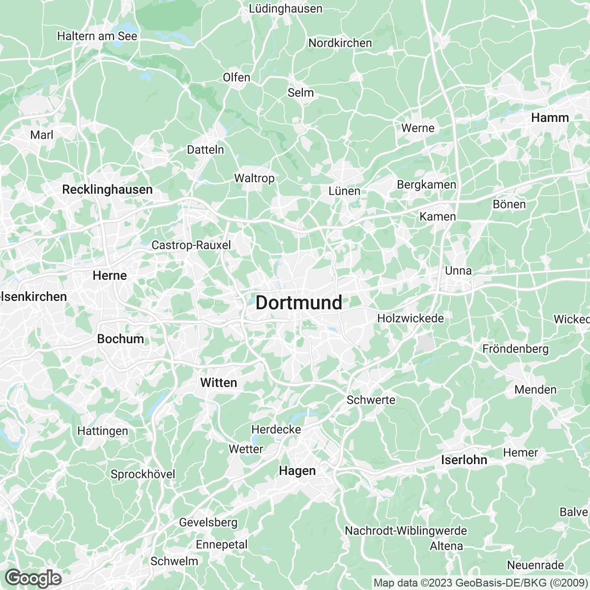 Verkaufsgebiet der Zeitungen mrw Mediaregion Ruhrgebiet / Westfalen (MNW/Nationale Vermarktung)