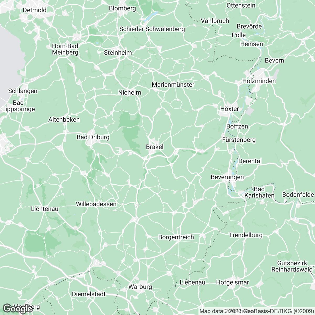 Verkaufsgebiet der Zeitungen Westfalen-Blatt