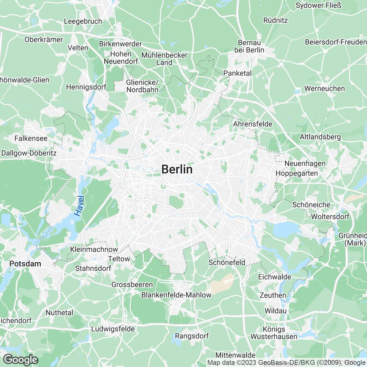 Verkaufsgebiet der Zeitungen Berliner Morgenpost