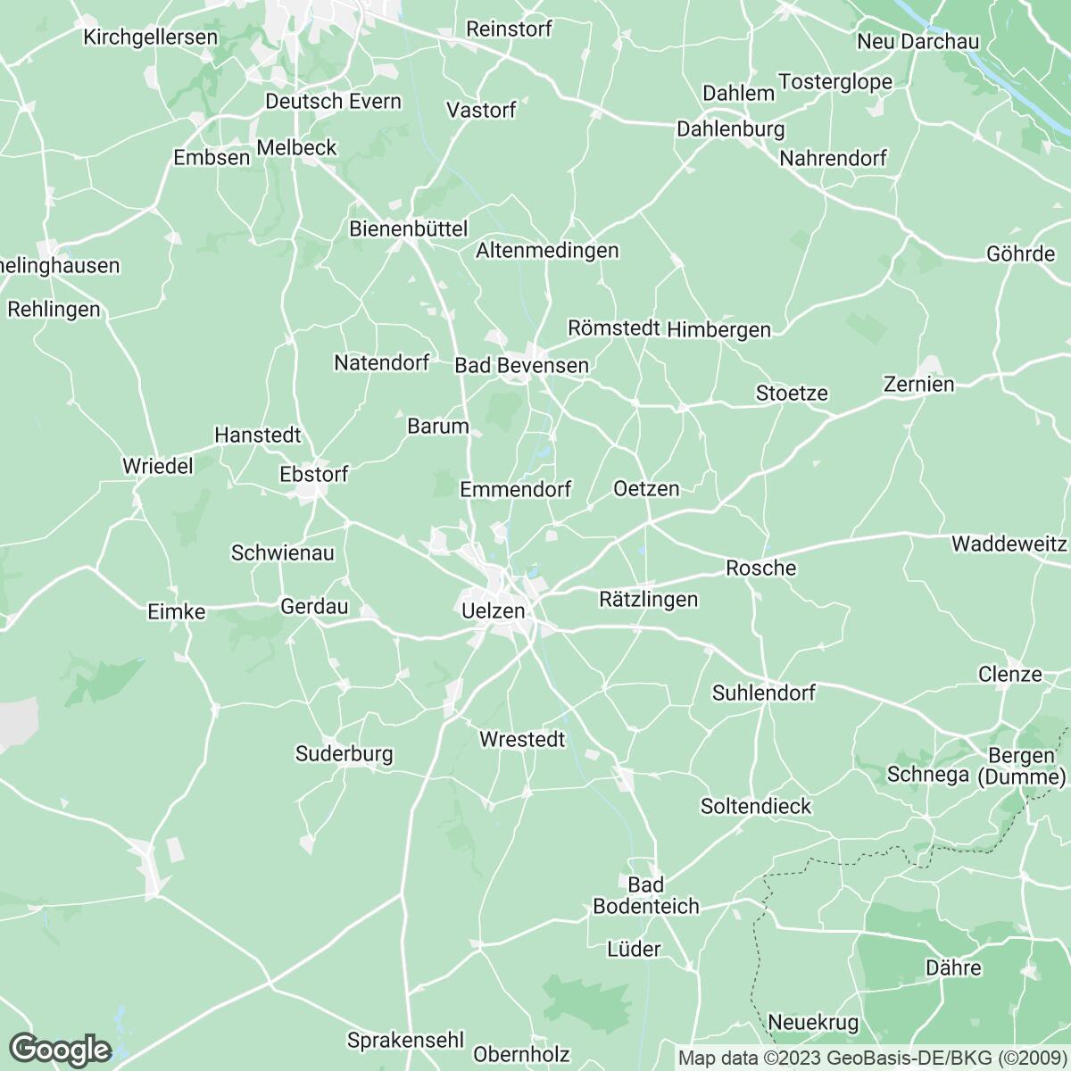 Verkaufsgebiet der Zeitungen Niedersächsisches Tageblatt