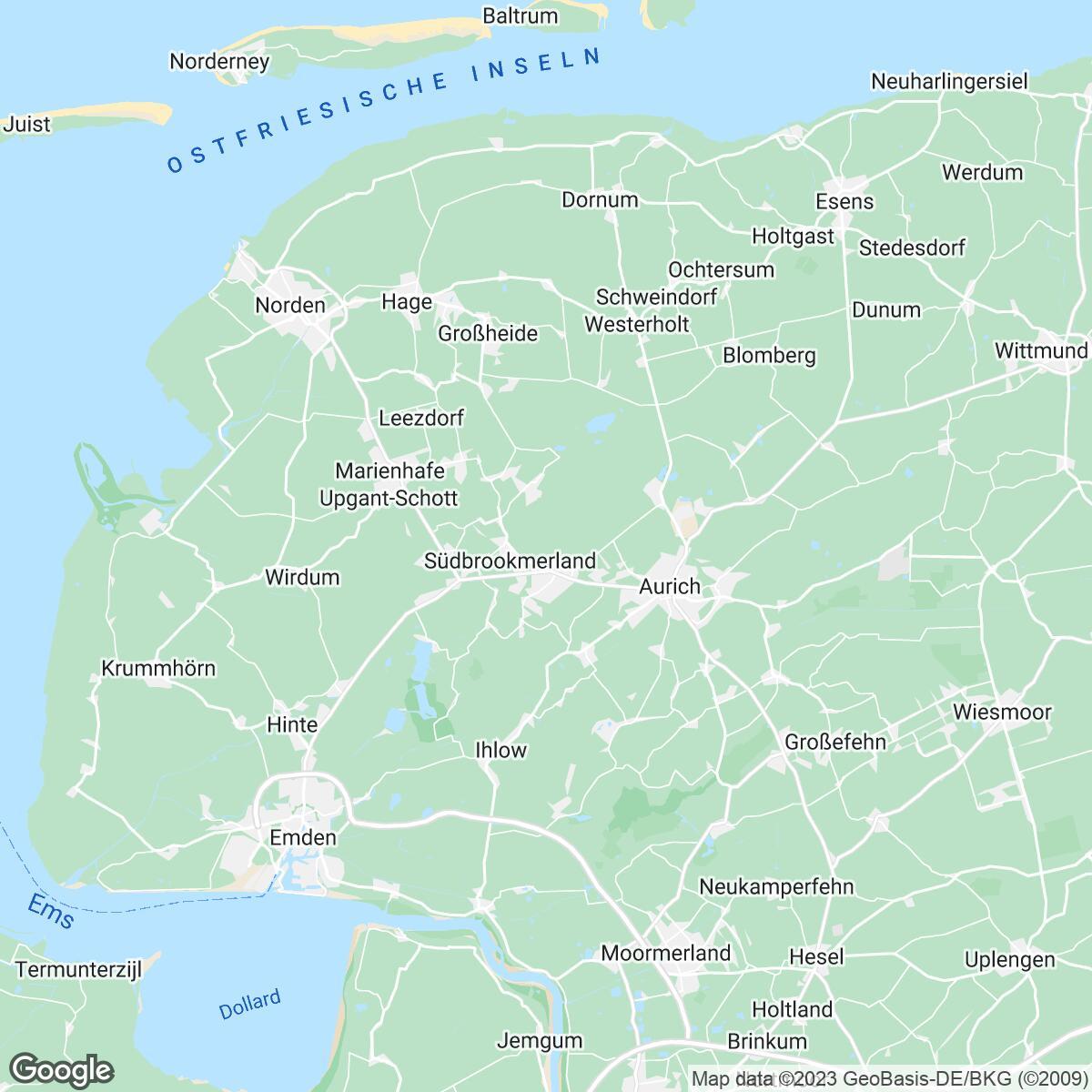 Verkaufsgebiet der Zeitungen Neue Osnabrücker Zeitung/ZG Südwest-Niedersachsen