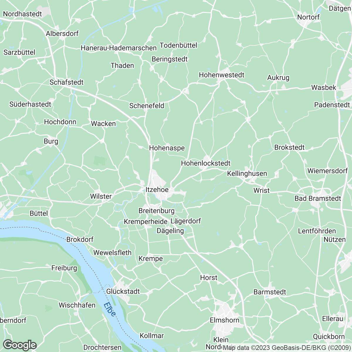 Verkaufsgebiet der Zeitungen sh:z Schleswig-Holsteinischer Zeitungsverlag