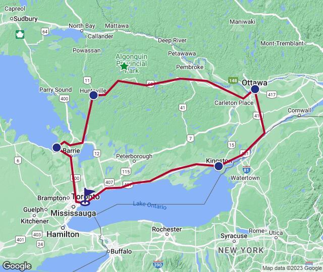 Routenverlauf Klassisches Ontario