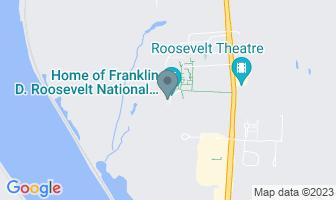 Karte des Geburtshauses von Franklin D. Roosevelt