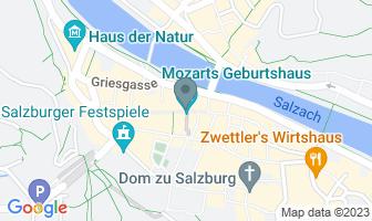 Karte des Geburtshauses von Maria Anna Mozart