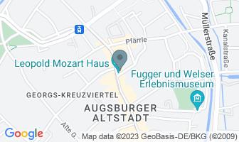 Karte des Geburtshauses von Leopold Mozart