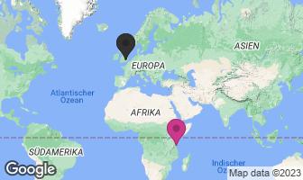 Karte des Geburtsortes von Freddie Mercury
