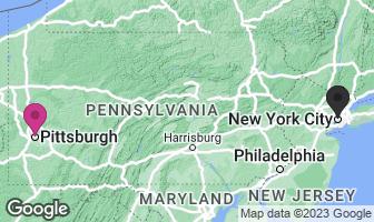 Karte des Geburtsortes von Andy Warhol