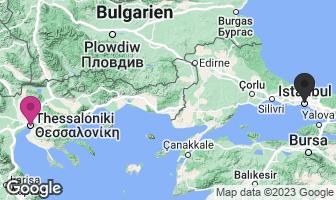 Karte des Geburtsortes von Mustafa Kemal Atatürk