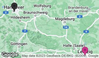 Karte des Geburtsortes von Gottfried Wilhelm Leibniz