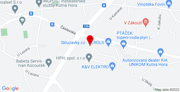 Google Map of Čáslavská 248, Kutná hora