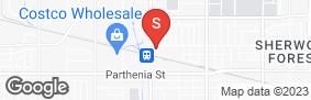 Location of Golden State Storage Northridge in google street view