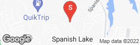 Location of Spanish Lake Self Storage in google street view