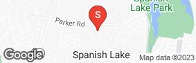 Location of Spanish Lake Self Storage in google street view