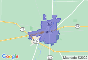 Tiffin, Ohio Border Map - Phone Size