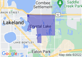 Crystal Lake, Florida Border Map - Phone Size