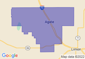 Agate School District 300, Colorado Border Map - Phone Size