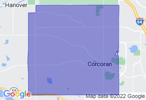 Corcoran, Minnesota Border Map - Phone Size