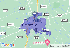 Greenville, Pennsylvania Border Map - Phone Size