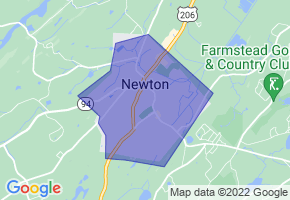 Newton, New Jersey Border Map - Phone Size
