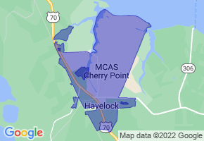Havelock, North Carolina Border Map - Phone Size
