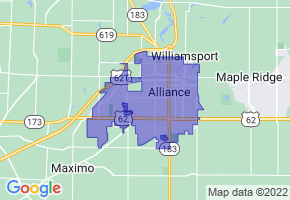 Alliance, Ohio Border Map - Phone Size