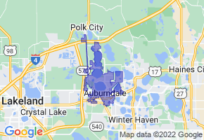 Auburndale, Florida Border Map - Phone Size