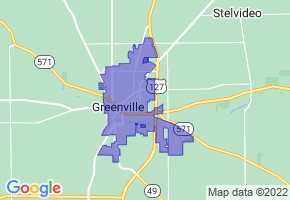 Greenville, Ohio Border Map - Phone Size