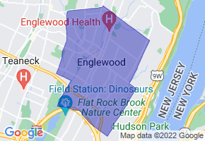 Englewood, New Jersey Border Map - Phone Size