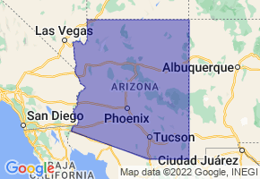Arizona Border Map - Phone Size