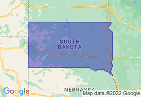 South Dakota Border Map - Phone Size