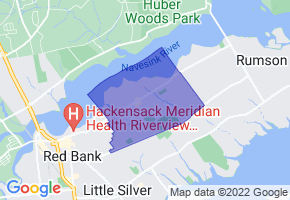 Fair Haven, New Jersey Border Map - Phone Size