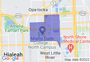 Westview, Florida Border Map - Phone Size
