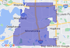 Minnetonka, Minnesota Border Map - Phone Size