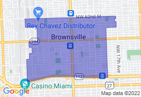Brownsville, Florida Border Map - Phone Size
