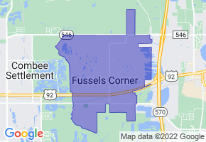 Fussels Corner, Florida Border Map - Phone Size
