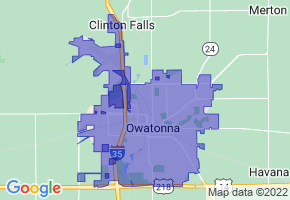 Owatonna, Minnesota Border Map - Phone Size