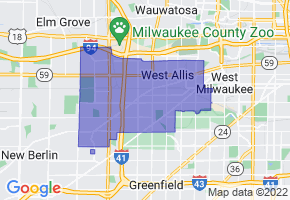 West Allis, Wisconsin Border Map - Phone Size