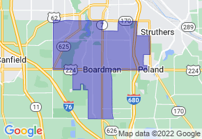 Boardman, Ohio Border Map - Phone Size