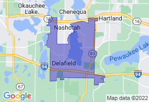 Delafield, Wisconsin Border Map - Phone Size