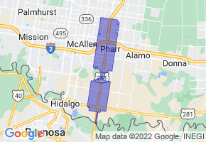 Pharr, Texas Border Map - Phone Size