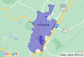 Altoona, Pennsylvania Border Map - Phone Size