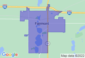 Fairmont, Minnesota Border Map - Phone Size