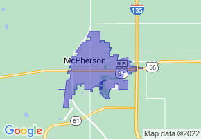 McPherson, Kansas Border Map - Phone Size