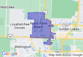 Royal Palm Beach, Florida Border Map - Phone Size